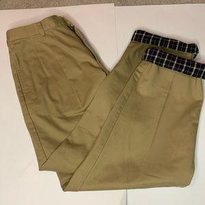 LL Bean Flannel Lined Khaki Chino Pants 34x34